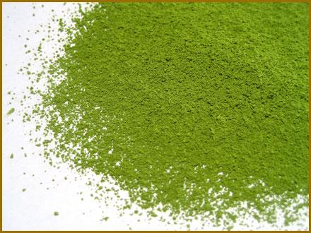 thé vert en poudre