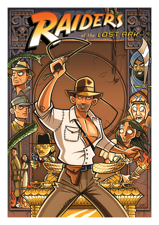 Indiana jones affiche cartoon