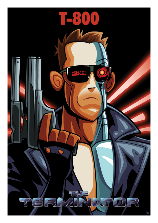 terminator affiche cartoon